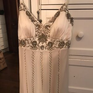Gorgeous embellished white wedding/prom dress